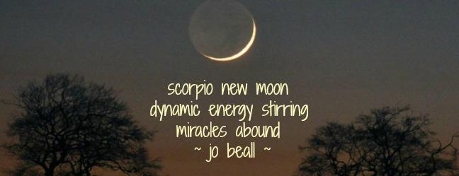 Named Numina November 17 Moon New in Scorpio