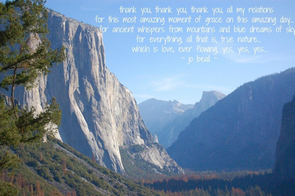 Named Numina November 21 Yosemite Blessingway