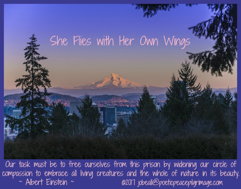 Named Descending 2 Oregon She Flies with Her Own Wings