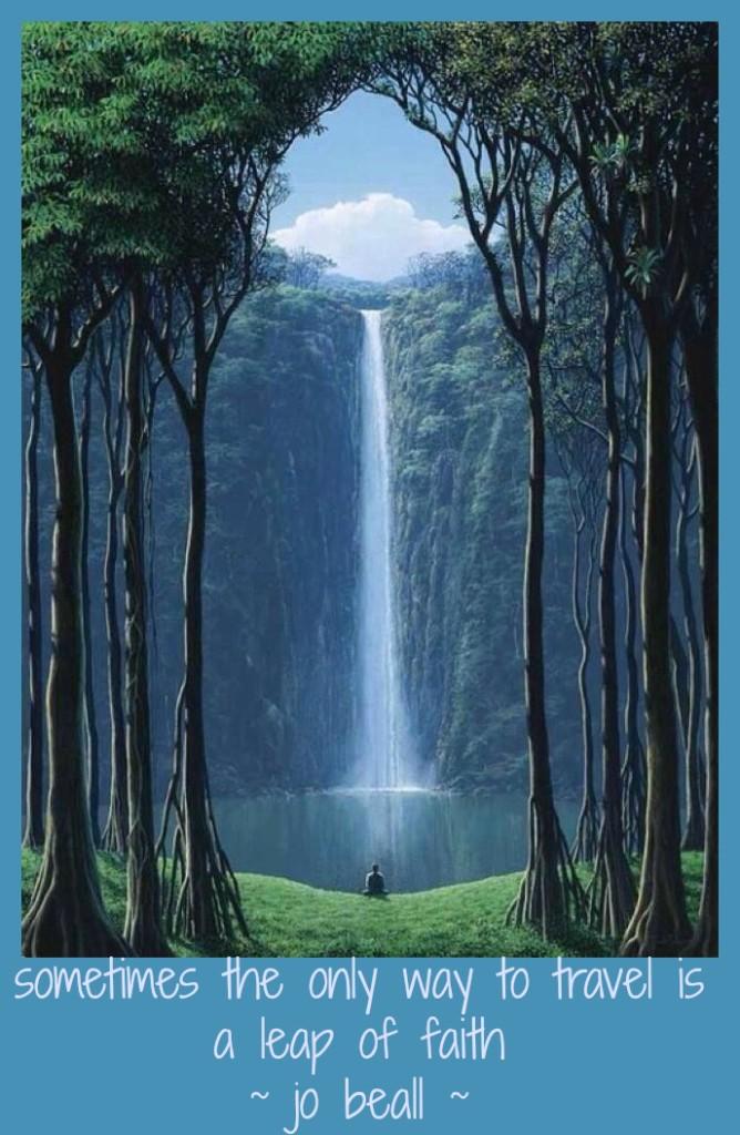 Named Descending 4 Poetic Peace Pilgrim at Waterfall