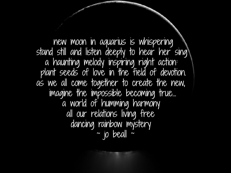 Named Freely Flowing 15 Moon New in Aquarius